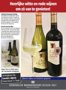 Advertentie 'Cecilia 1837'-wijn 2020-2021 (DE)