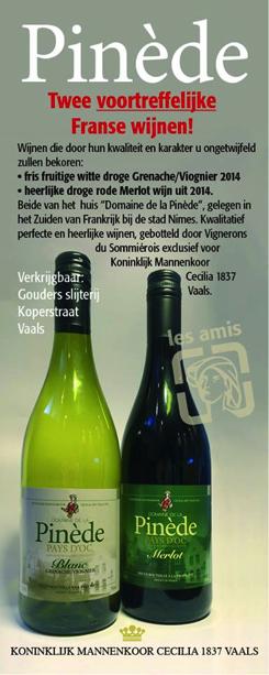 Advertentie 'Cecilia 1837'-wijn